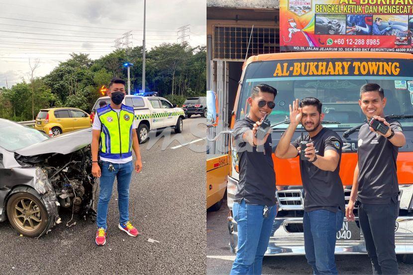 Baru nak jamah ketupat pagi raya, baju Melayu pun tak sempat tukar, pekerja trak tunda jawab tuduhan sengaja simbah minyak atas jalan demi dapatkan job!