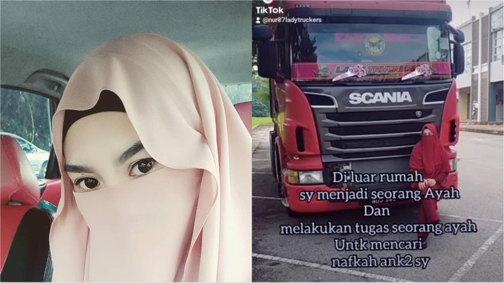 Ibu Tunggal pilih jadi pemandu lori kontena bagi menyara lima anak