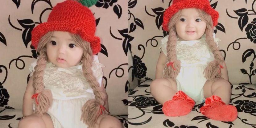 """Selain buat orang 'geram', ramai keliru dengan rambut bayi comel ini... betul ke palsu? - """"Dah tiga anak lelaki, saya doa dapat perempuan pula"""""""