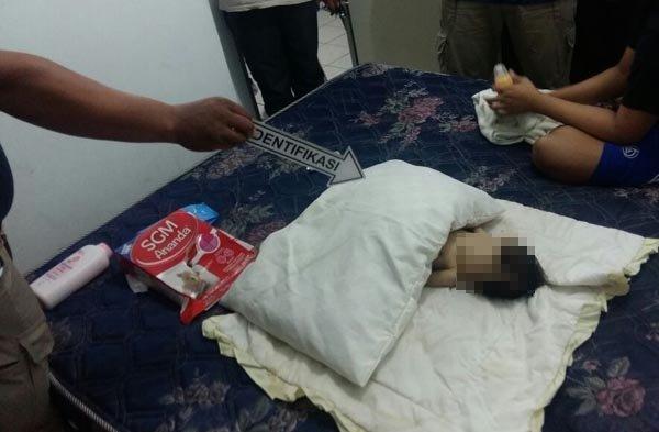Anak terberak dalam seluar dipijak bapa tiri di punggung & perut sehingga sawan, meninggal dunia
