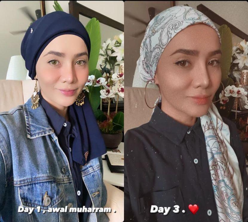 """Elizad bertudung selepas dapat hadiah shawl daripada suami, tapi dikritik masih nampak leher - """"Saya sedar tidak sempurna, masih tercari-cari"""""""